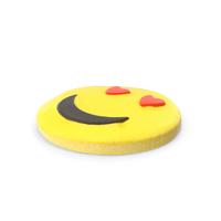 Cookie Smiling Face with Heart Eyes PNG & PSD Images