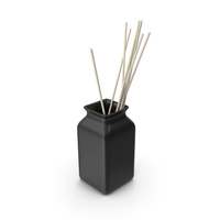 Ceramic Black Vase PNG & PSD Images