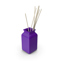 Ceramic Purple Vase PNG & PSD Images