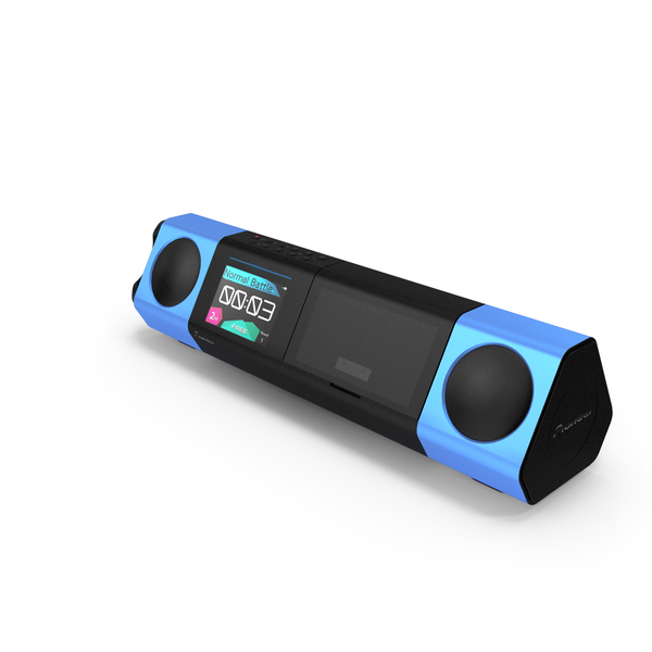 Portable Music System Blue PNG & PSD Images