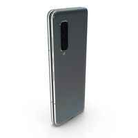 Samsung Galaxy Fold Silver Folded PNG & PSD Images