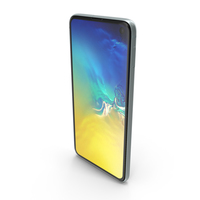 Samsung Galaxy S10E Coral Blue PNG & PSD Images
