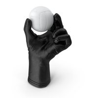 Glove Holding a Volleyball Ball PNG & PSD Images