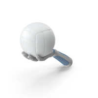 RoboHand Holding a Volleyball Ball PNG & PSD Images