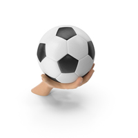 Hand Holding a Soccer Ball PNG & PSD Images