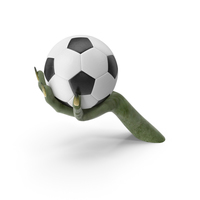 Creature Hand Holding a Soccer Ball PNG & PSD Images