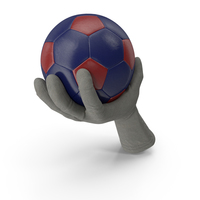 Glove Holding a Red Blue Soccer Ball PNG & PSD Images
