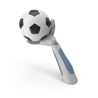 RoboHand Holding a Soccer Ball PNG & PSD Images