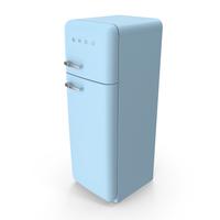SMEG Blue Fridge PNG & PSD Images