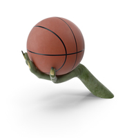 Creature Hand Holding a Basketball Ball PNG & PSD Images