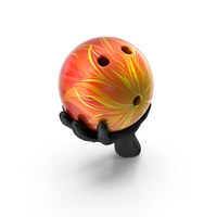 Leather Glove Holding a Flaming Bowling Ball PNG & PSD Images