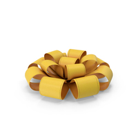 Yellow Gift Ribbon Bow PNG & PSD Images