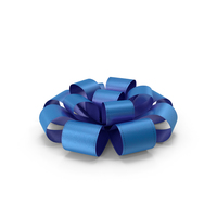 Ribbon Bow Gift Box Blue PNG & PSD Images