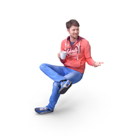 Man Sitting with Drink PNG & PSD Images