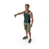 Sport Man Shows Negative Gesture PNG & PSD Images