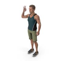 Sport Man Shows OK Gesture PNG & PSD Images