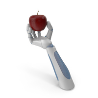 RoboHand Holding a Red Apple PNG & PSD Images