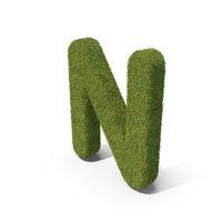 Grass Capital letter N PNG & PSD Images