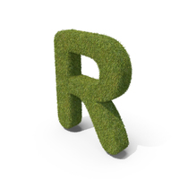 Grass Capital Letter R PNG & PSD Images