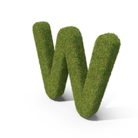Grass Capital Letter W PNG & PSD Images