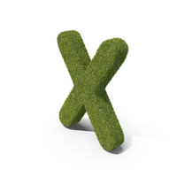 Grass Capital Letter X PNG & PSD Images