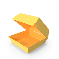 Burger Box Opened Yellow PNG & PSD Images