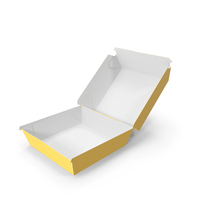 Burger Box Opened Yellow White PNG & PSD Images