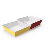 Burger Box Opened Red Yellow PNG & PSD Images