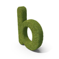 Grass Small Letter B PNG & PSD Images