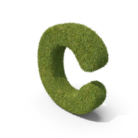 Grass Small Letter C PNG & PSD Images