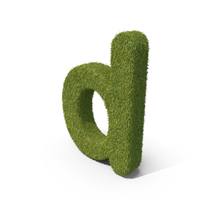 Grass Small Letter D PNG & PSD Images