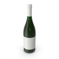 Champagne Bottle White PNG & PSD Images