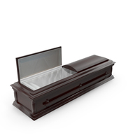 High Def Classic Coffin All Wood PNG & PSD Images