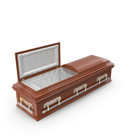 High Def Classic Coffin Roman Wood PNG & PSD Images