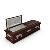 High Def Classic Coffin Wood 07 PNG & PSD Images