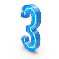 Tech Alphabet Number 3 PNG & PSD Images