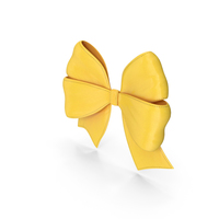 Ribbon Bow Gift Decorative Yellow PNG & PSD Images