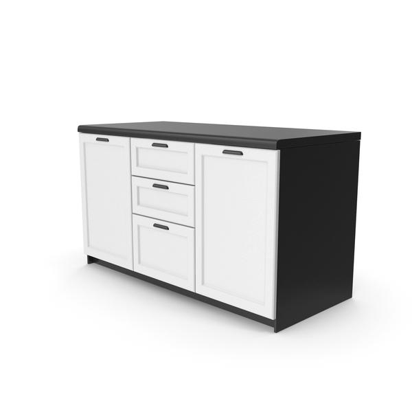Kitchen Cabinet Black PNG & PSD Images