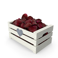 Wooden Box with Petals PNG & PSD Images
