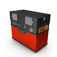 Portable Power Station Red PNG & PSD Images