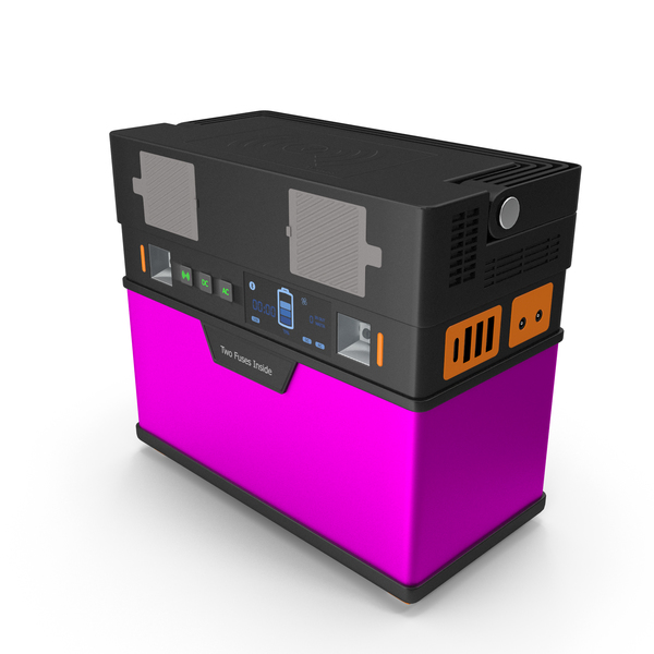 Portable Power Station Pink PNG & PSD Images