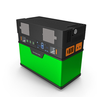 Portable Power Station Green PNG & PSD Images
