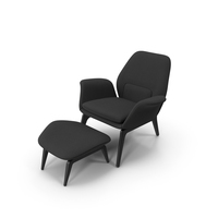 Lounge Chair Black PNG & PSD Images