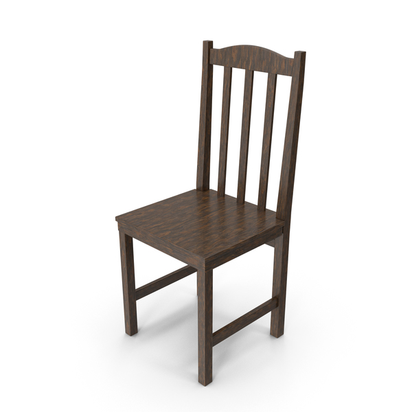 Wooden Chair Dark PNG & PSD Images