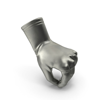 Glove Metallic Pouring Pose PNG & PSD Images