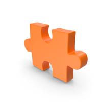 Puzzle Piece Orange PNG & PSD Images