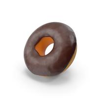 Cartoon Donut Chocolate Glaze PNG & PSD Images