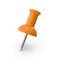 Push Pin Orange PNG & PSD Images