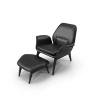 Lounge Chair Black Leather PNG & PSD Images