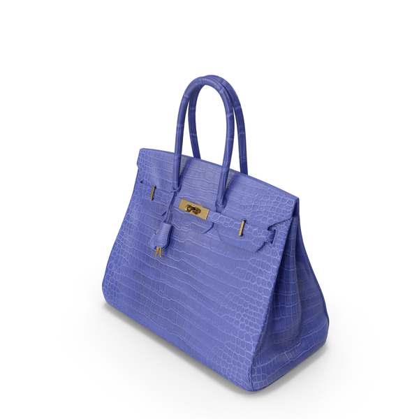 Crocodile Handbag Blue PNG & PSD Images